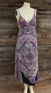 Lucky Brand Cotton Modal Paisley Dress Size Small