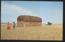 Postcard Hays Ks Ft Fort Hays Experiment Farm Giant Loaf Wheat Bread 1960's