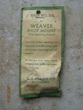 NOS Weaver 168 RUGER 44 Gun Rifle Pivot Mount Rear Scope Base Black Free Shippin