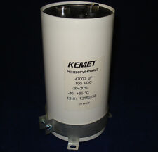 KEMET/RIFA capacitor 47000 uf 100 VDC WITH mounting clamp included