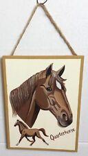 QUARTERHORSE HORSE WOODEN SIGN WALL DECOR PLAQUE HOME DECOR ORNAMENT - NEW
