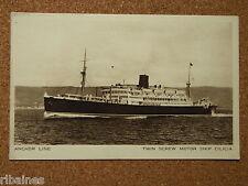 Vintage Postcard: Anchor Line, Twin Screw Motor Ship Cilicia, Printed in England