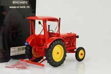1955 Hanomag R35 Tractor Rojo Con Techo 1:18 Minichamps