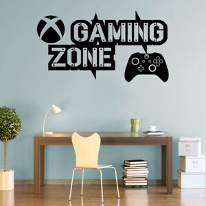 Gaming Zone Wall Stickers Xbox One Controller Gamer Vinyl Decals Kids Bedroom