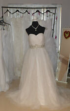 Ivory Wedding Dress with Trail - UK Size 14