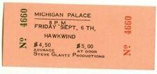 HAWKWIND 1974 CONCERT TICKET PHOTO DETROIT MICHIGAN PALACE USA Lemmy Kilmister
