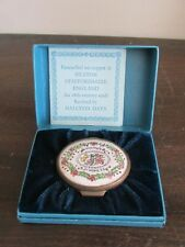 Bilston Battersea Enamel Patch Box A Token Of Affection Staffordshire England