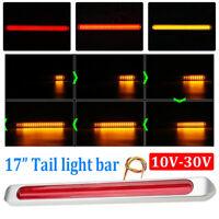"17"" LED Red Sealed Submersible Trailer Truck RV Stop Tail Brake Turn Light Bar"
