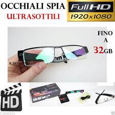 OCCHIALI SPIA DA VISTA FULL HD 1920X1080 SPY CAMERA CAM OCCULTATA