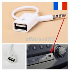 Câble Jack 3.5mm Stéréo Audio Prise Mâle Vers USB 2.0 Femelle Adaptateur Neuf