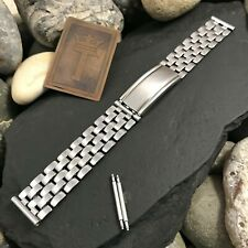"""16mm 5/8"""" Stainless Steel Link 1950s Vintage Watch Band Gemex USA"""