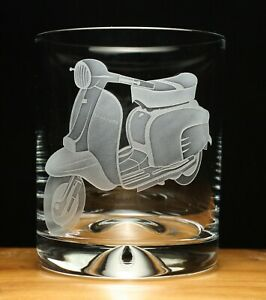 Lambretta scooter motorcycle bike engraved glass tumbler gift present