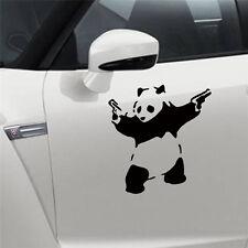 PANDA WITH GUNS Vinyl Decal Sticker Car Window Wall Bumper Macbook BANKSY ART CN
