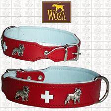WOZA Premium Hundehalsband Französische Bulldogge Lederhalsband Vollleder HG3193