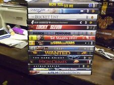 (18) Morgan Freeman DVD Lot: Bucket List Now You See Me Wanted Dolphin Tale MORE