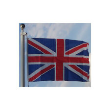 More details for all sewn nylon union jack flag 3' x 2' canvas sleeve british flag uk seller