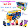 Peppa Pig Friends School Campus Bus with Light and Sound Included 6 Figures Toy