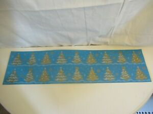Christmas trees Christmas cling window decorations, white & gold, 2 strips