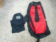 """Title Boxing Glove Shape, Sackpack all in one  Backpack (26"""" x 14"""" x 6.5"""") GUC"""