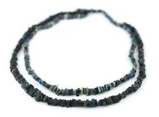 Dark Roman Glass Heishi Beads 5mm Afghanistan Multicolor Unusual 29 Inch Strand