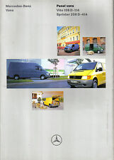 Mercedes Benz Panel Vans Vito 108D-114 Sprinter 208D-414 1997 original Brochure