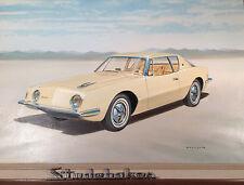 "Gerald Coulson Signed Original Oil Painting Classic Car ""Avanti"" 1980's"