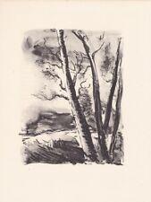 lithographie originale de Maurice de Vlaminck.