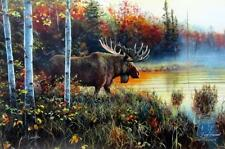 "Jim Hansel Master of His Domain Moose Print  12"" x 7.75"""
