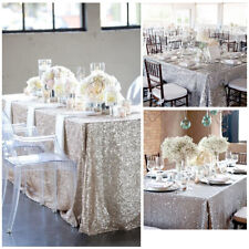 NEW-Rectangle Sequin Glitter Tablecloth Sparkly Table Cloth Cover Wedding Party