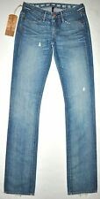 NEW Earnest Sewn Sz 24 X 34 Long Women's Decca 279 Light Med Blue Straight Jeans