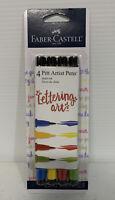 Faber Castell Pitt Artist Pen Set - 4 - Bright Lettering Colors