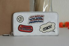 Coach 3475 Marvel Accordion Zip Wallet Signature With Patches