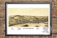 Vintage Stillwater, NY Map 1889 - Historic New York Art Old Victorian Industrial