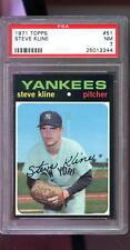 1971 Topps #51 Steve Kline New York Yankees NM PSA 7 Graded Baseball Card
