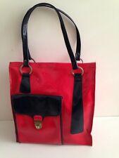 superbe sac a main sport  voyage vintage années 60 70's rouge et bleu