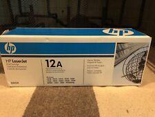 HP 12A Black LaserJet Toner Cartridge Q2612A SEALED.