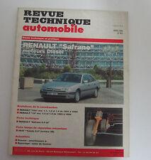 Revue technique  automobile RTA 561 Renault safrane moteur diesel