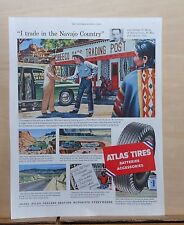 1954 magazine ad for Atlas Tires - used by Trading Post supplier Navajo Country