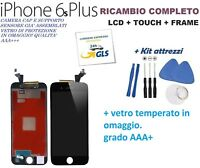 TOUCH SCREEN + LCD DISPLAY RETINA + FRAME PER APPLE IPHONE 6S PLUS VETRO NERO
