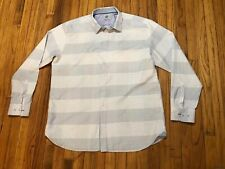 Kilburne & Finch Long Sleeve Shirt Men's 4xlt Checkered Pattern Small Blue Dots