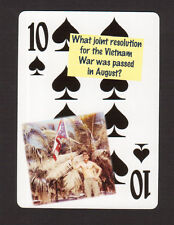 Vietnam War Gulf of Tonkin Resolution Neat Playing Card #4Y6