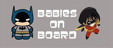 Batman and Robin Babies on Board / DC Comics / Vinyl Vehicle Decal / Kids Art