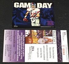 ELI MANNING 2011 TOPPS GAME DAY SIGNED AUTOGRAPHED CARD #EM NY GIANTS CERTIFIED