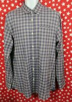 SCOTCH & SODA Mens Short Sleeve Plaid Check Button Up Shirt Size Large A481