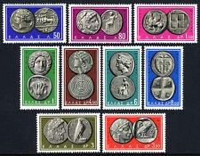 Greece 750-758, MNH. Ancient Greek coins. Animals, Birds, 1963