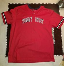 Vintage 90s Tommy Hilfiger Sport Spelled Out Jersey/Shirt/Large Graphic Amazing