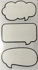 TALK BUBBLES Stickers(3pc)Frances Meyer•Captions•Phrases•Words •Journaling•Lable