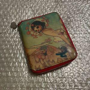 Issey Miyake Aya Takano Pole A Two-Fold Wallet Round Zip Very Good Rare