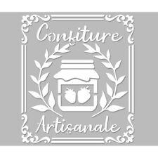 Pochoir Adhésif Réutilisable 25 x 20 cm Affiche Confiture Ancienne