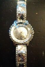 Vintage Large Crystal ladies watch, running with new battery NR